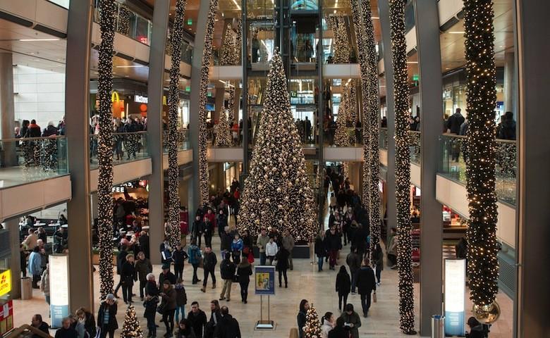 Centro Commerciale durante il periodo di Natale
