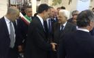 Il Presidente della Repubblica Sergio Mattarella e il Presidente di Coldiretti Roberto Moncalvo a Vinitaly 2016
