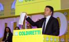 Il Premier Renzi durante il suo intervento alla Giornata Nazionale del Latte