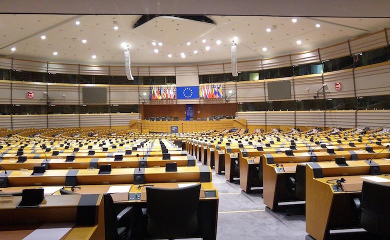 Il Parlamento Europeo dove è stata approvata la ratifica dell'Accordo di Parigi sul clima
