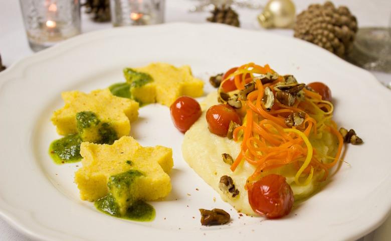 Menu di Natale, piatto a base di polenta