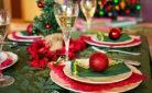 Tavola preparata per il pranzo di Natale 2016