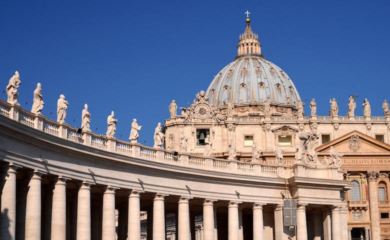 Piazza San Pietro dove si svolgeranno le celebrazioni per Sant'Antonio Abate
