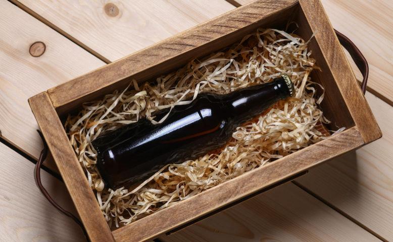 Cassetta contenente birra artigianale