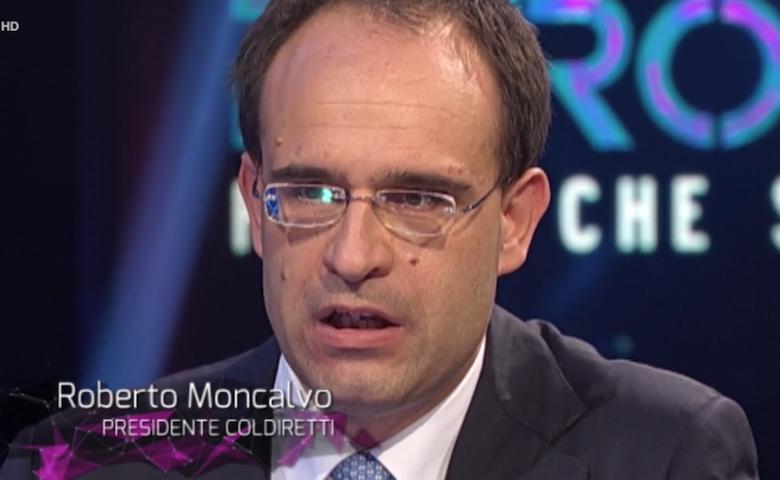 Grano duro italiano, Roberto Moncalvo durante l'intervista a Petrolio