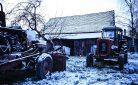 Freddo e gelo: trattore per spalare la neve